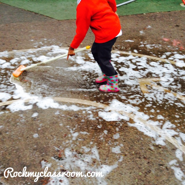 Puddle fun on rock my classroom