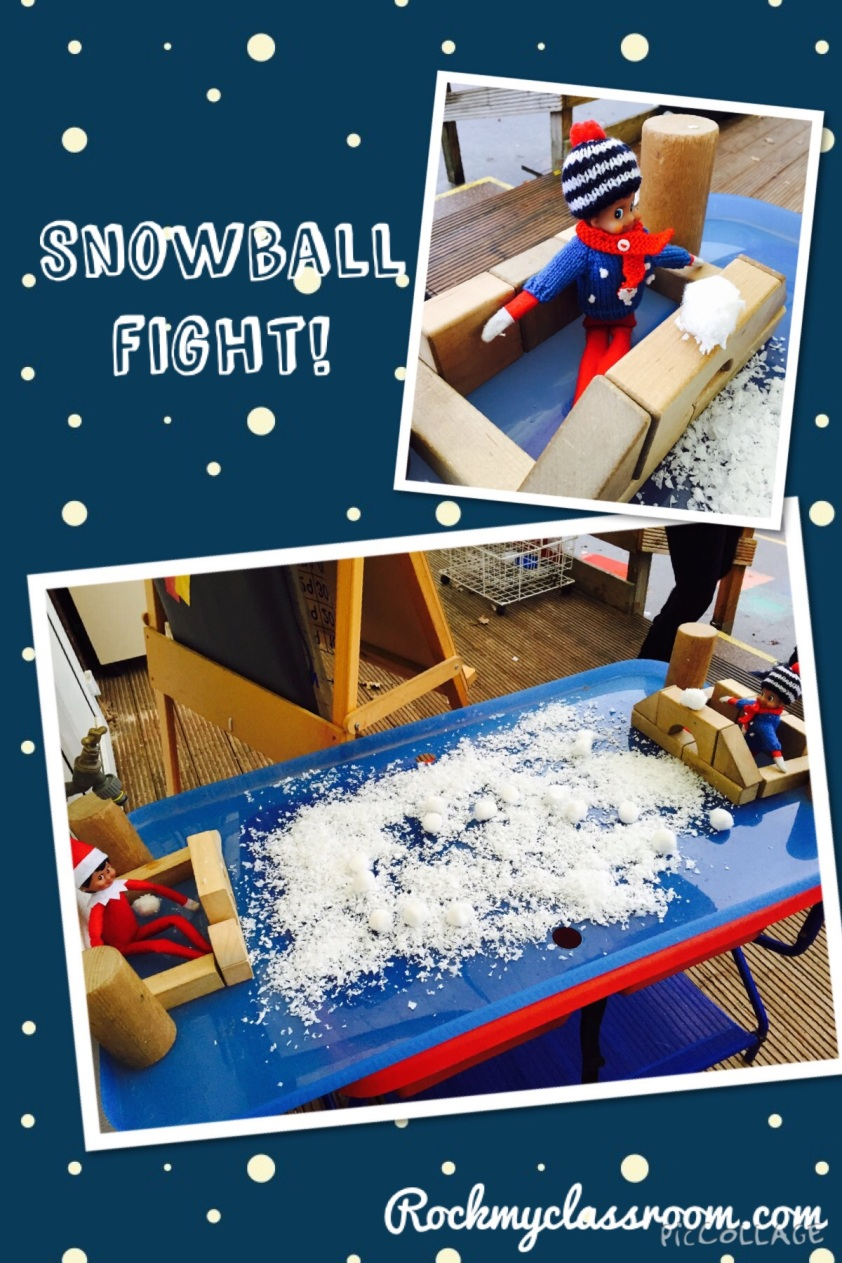 Snow ball fight!